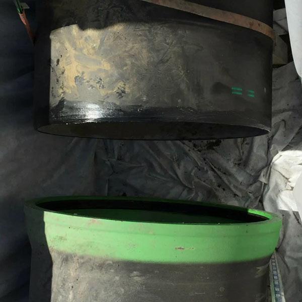 emboitement des canalisations après pompage