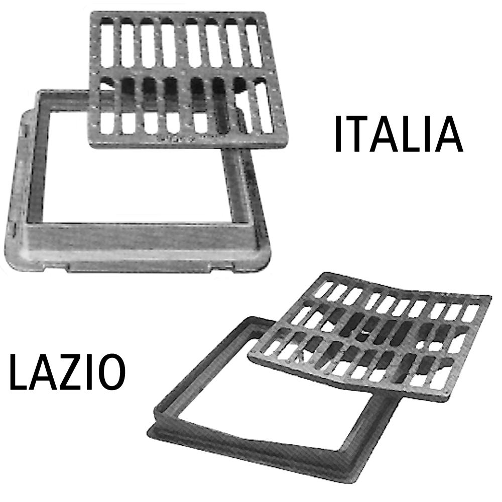 Grilles carrée à cadre renforcé ITALIA / Grilles concave à cadre renforcé LAZIO