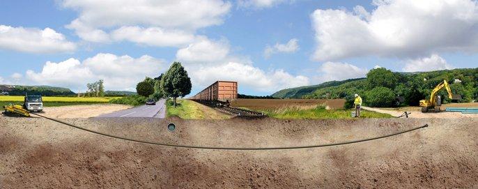 Pose sans tranchée - canalisations en fonte ductile - Saint-Gobain PAM