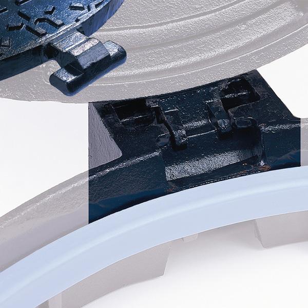 rotule de guidage, manoeuvre ouverture fermeture plaque d'égout en fonte