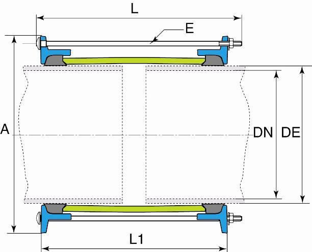 schéma manchon de liaison LINK GS non verouillé