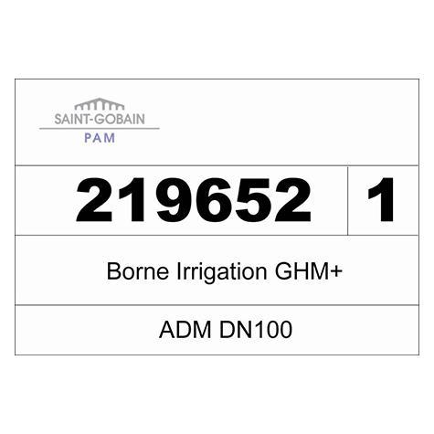 Borne ADM 150 GHM+ non incongelable - DN100