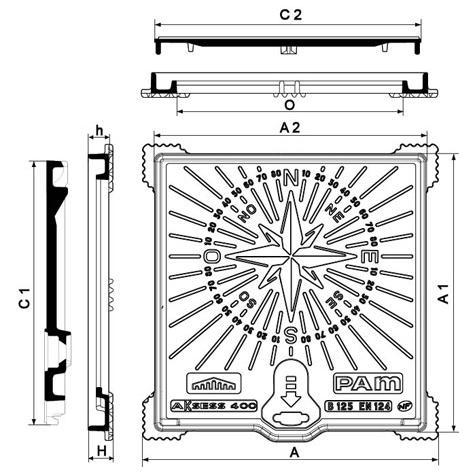Regard Hydrauliques AKSESS Rose des Vents Classe B125 Non   Verrouillés