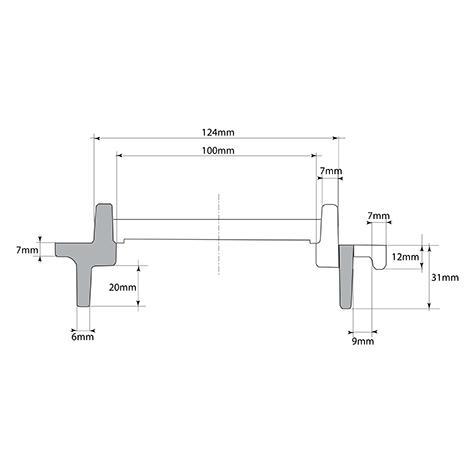 Cadre pour grilles pour caniveaux préfabriqués 500x124 Classes C250, D400, E600
