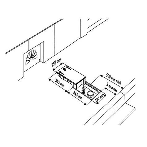 """Bouche d'incendie incongelable DN100 """"Selecta 3D"""" - Boîte droite avec   coude à patin - PFA16 bar - Raccord Keyser"""