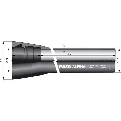 Tuyau ALPINAL Aquacoat® joint UNI TYT   DN80-300