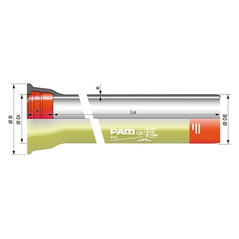 Tuyau CLASSIC® PUX avec collerette joint   STD DN350-1200