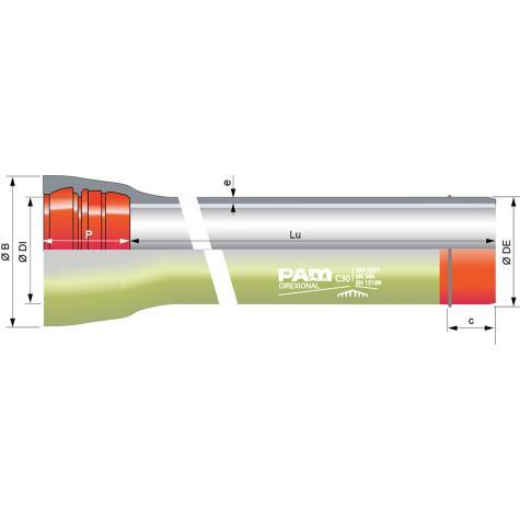 Tuyau DIREXIONAL Universal Standard Ve PUX avec cordon de soudure DN800-1000