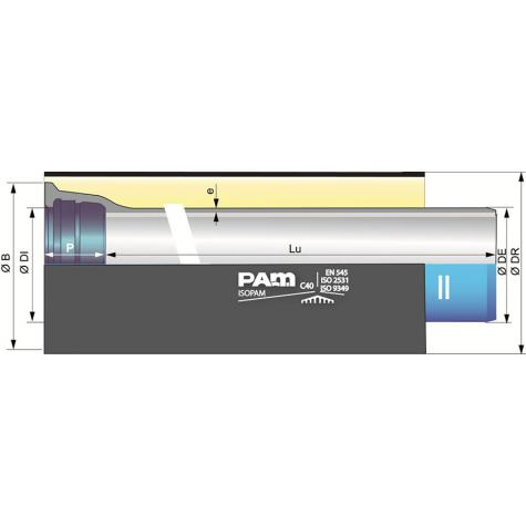 Tuyau ISOPAM à joint Standard DN100-600