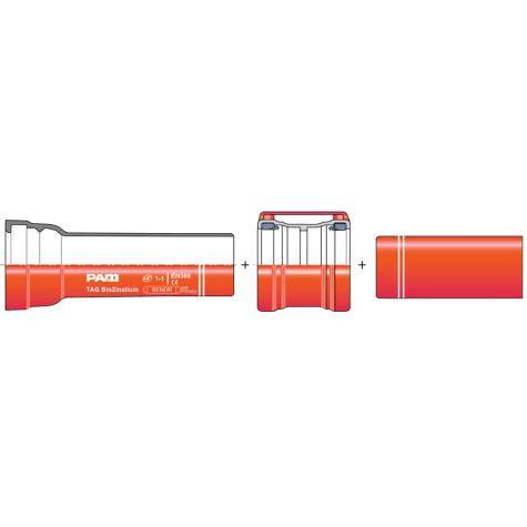 Tuyaux courts TAG   BioZinalium® DN150-300   à emboîtement et bout-uni et manchon