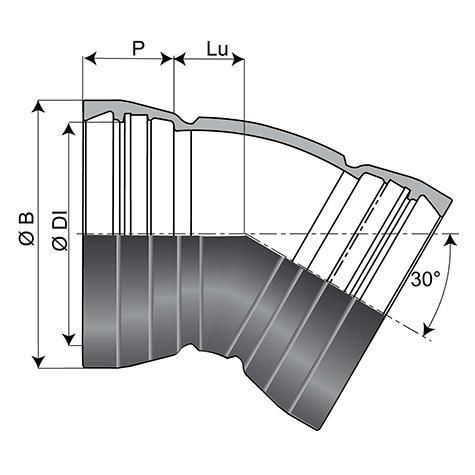 Coude EE Alpinal Universal Standard DN400-500