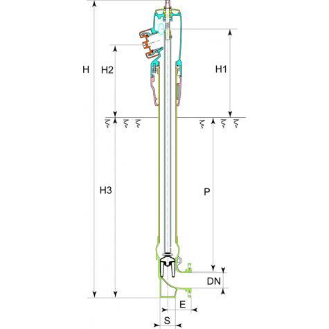 Poteau d'incendie ATLAS+ Non Renversable DN80-100 - Raccords symétriques