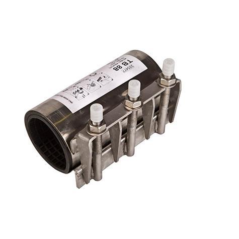 ALLINOX - Manchon de réparation à mâchoire inox pour tuyaux fonte,   acier, PVC