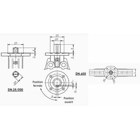 Robinet à papillon centré à double bride Série S20 DN80-1600