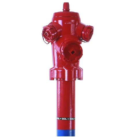 Poteau d'incendie C9+ Non Renversable DN80-100 - Raccords   symétriques
