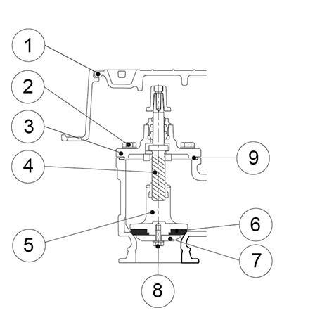 Notice de pose - Pochette de joints - Bouche Modèle 97 - Non   incongelable (page du livret R1 528)