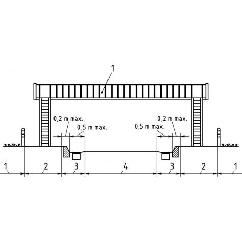 Plaque de recouvrement Profil A (1) Classe C250/B125