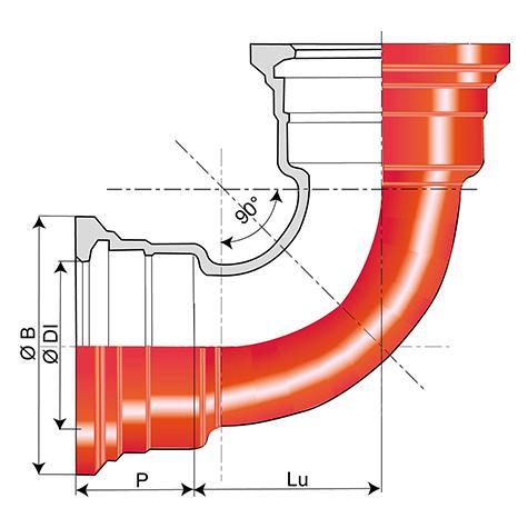 Coude 90° INTEGRAL à joint Standard DN80-1000