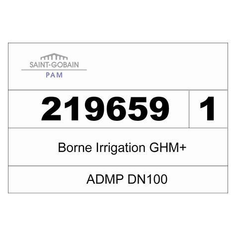 Borne ADMP GHM+ incongelable - DN100