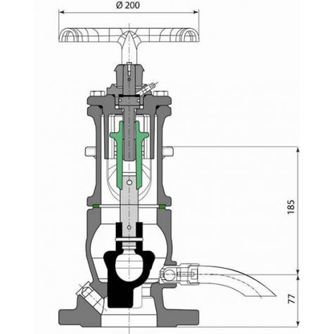 Borne GH 802 courte GHM+ non incongelable - DN80-100