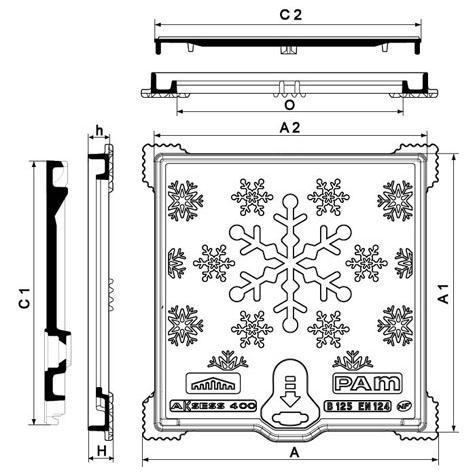 Regard Hydrauliques AKSESS Flocons Classe B125 Non   Verrouillés