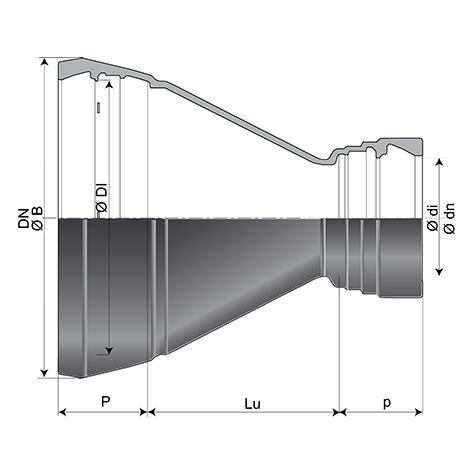 Cône Alpinal Universal Standard DN400-500