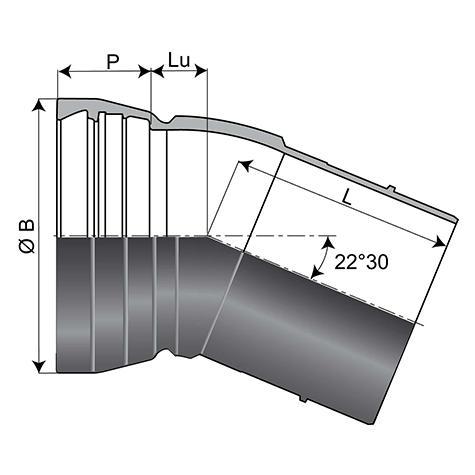 Coude EU Alpinal Universal Standard avec cordon DN400-500