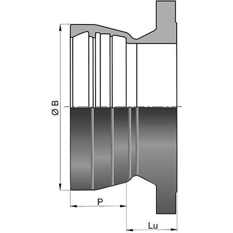 Bride Emboîtement Alpinal Universal Standard (bride fixe)   DN400-500