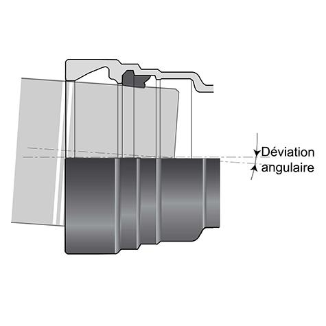 Jonction Standard Universal pour Raccords ALPINAL DN400-500