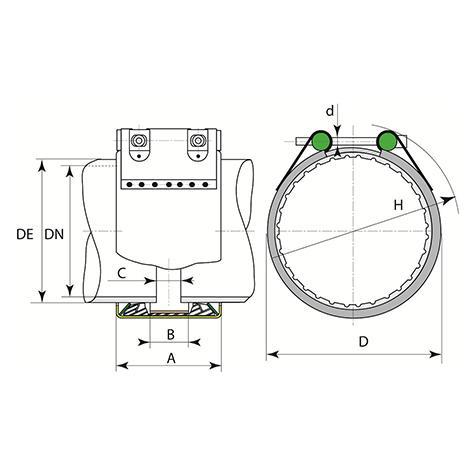 Manchon FIX-LINK verrouillé pour tuyaux en fonte ductile