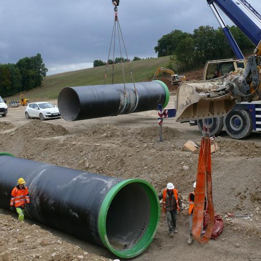 installation tuyaux pluvial ligne grande vitesse