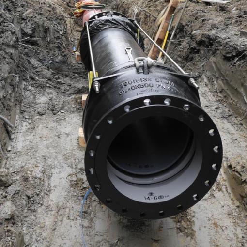 installation raccord geoflex adapté contraintes sismiques