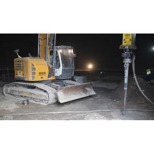 matériel pour battage des pieux en fonte ductile pour fondations