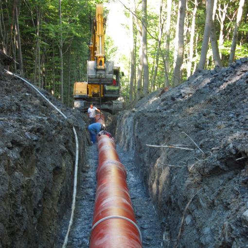 chantiers pose de canalisation integral saint gobain pam