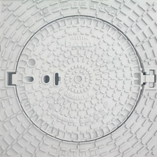 plaque d'égout fonte, regard voirie blanc