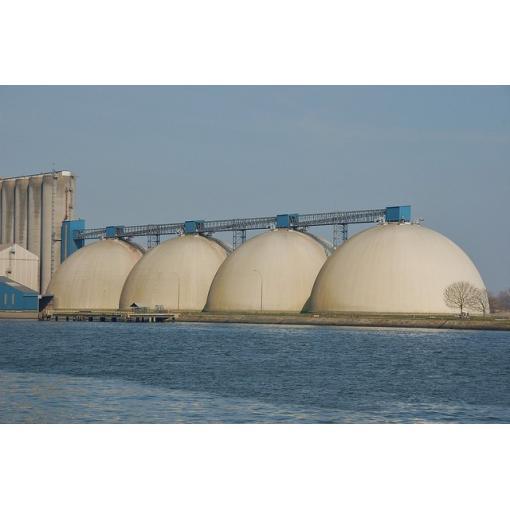 chantier silos céréales port maritime rouen pieux saint gobain pam