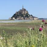 Chantier Mont Saint Michel - pose de tuyaux ISOPAM en fonte ductile
