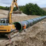 Pose tuyaux eaux pluviales ligne grande vitesse sud europe atlantique