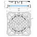Regard KORUM Classe D400 cadre carré ventilé fonte de voirie